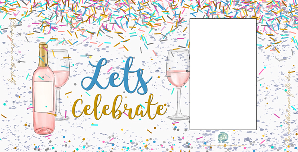 Lets celebrate cylindrical greeting cards from fromme cards bottle lets celebrate bottle greeting card m4hsunfo
