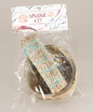 HERB-05A Smudge Kit - Pink Abalone With Blue Sage Bundle