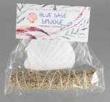 HERB-05C Smudge Kit - China White Clam Shell With Blue Sage Bundle