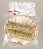 HERB-05W Smudge Kit - Scallop Shell With Two Blue Sage Bundles