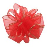 PK009-50-HRG Sheer Essence Wired Ribbon - Holiday Red/Gold