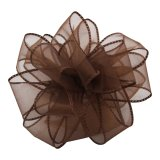 PK009-50-BRB Sheer Essence Wired Ribbon - Brown/Brown